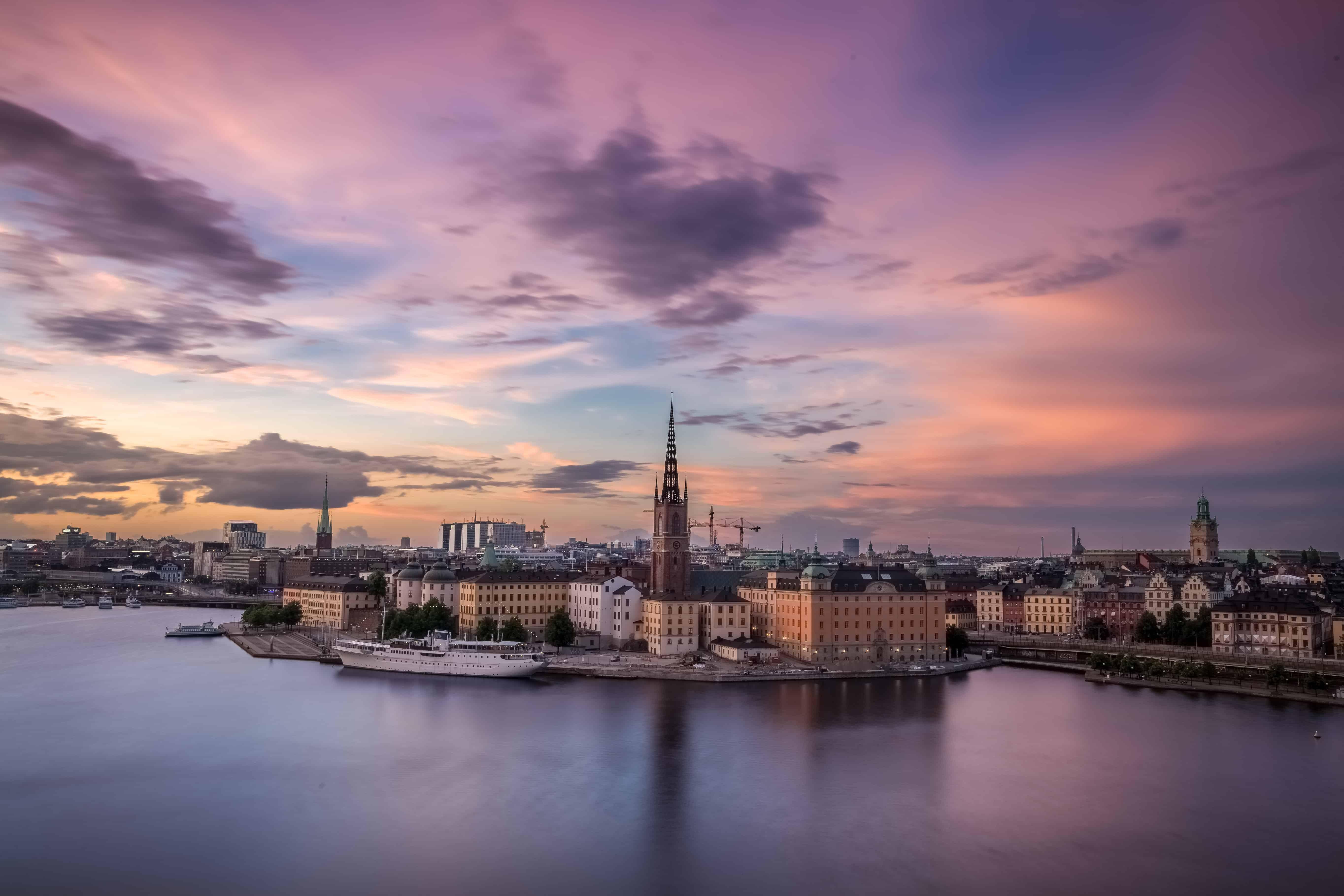 Aerial over Stockholm