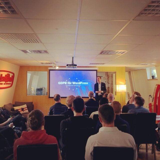 Föredrag: GDPR för WordPress från WordPress Meetup Göteborg