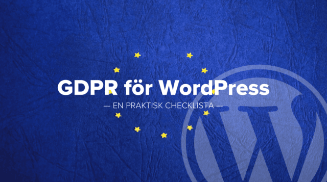 GDPR för WordPress från WordPress Meetup Westeros